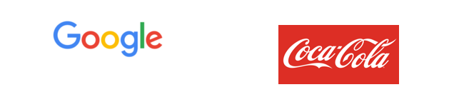 Logo de Coca-Cola et de Google